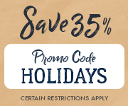 Save with promo code HOLIDAYS